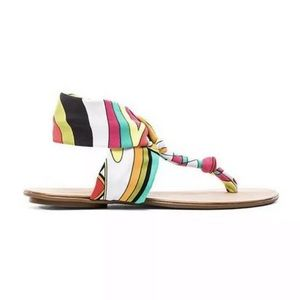 Trina Turk Titus Slingback Fabric Sandals 7.5M